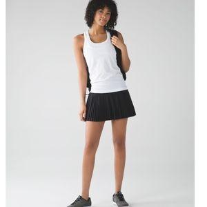 NWT Lululemon Pleat to Street Skirt Solid Black